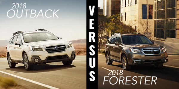 2018 Subaru Outback (left). 2018 Subaru Forester (right).